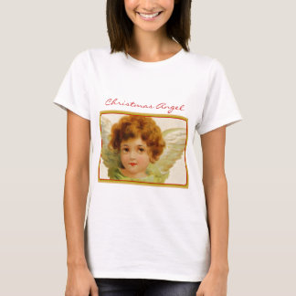 Vintage Christmas Angel Green and Red T-Shirt