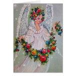 Vintage Christmas Angel Greeting Card