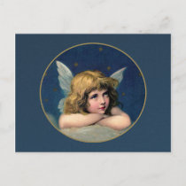 Vintage Christmas Angel Holiday Postcard
