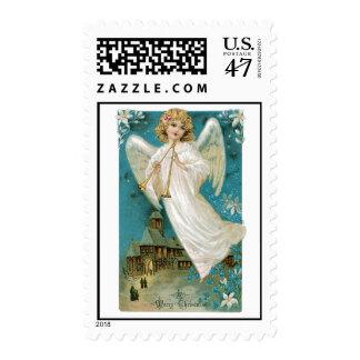 Vintage Christmas Angel Image Postage