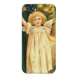 Vintage Christmas Angel iPhone 5 Cases