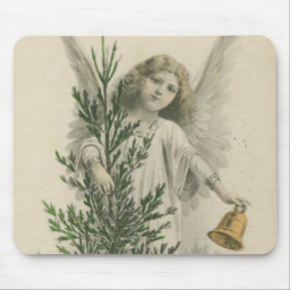 Vintage Christmas Angel Mouse Pad