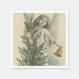 Vintage Christmas Angel Paper Napkin