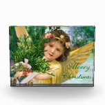 Vintage Christmas Angel Paperweight Forever Card Acrylic Award