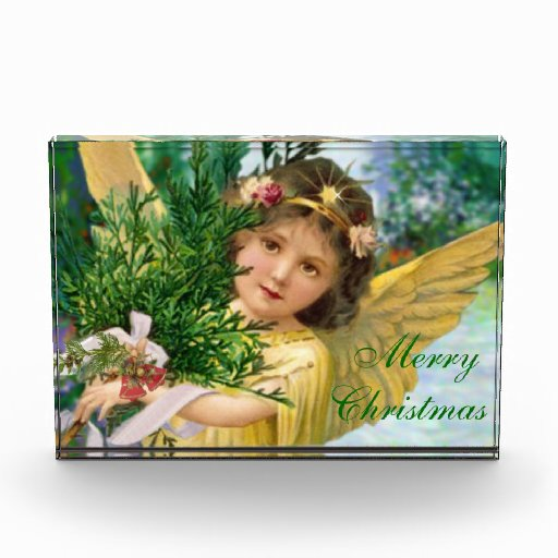 Vintage Christmas Angel Paperweight Forever Card Awards