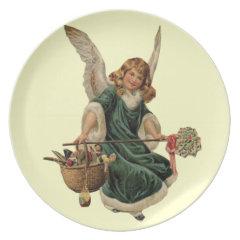 Vintage Christmas Angel Plates