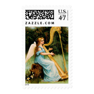 Vintage Christmas Angel Postage