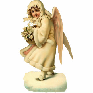 Vintage Christmas Angel Sculpture Magnet