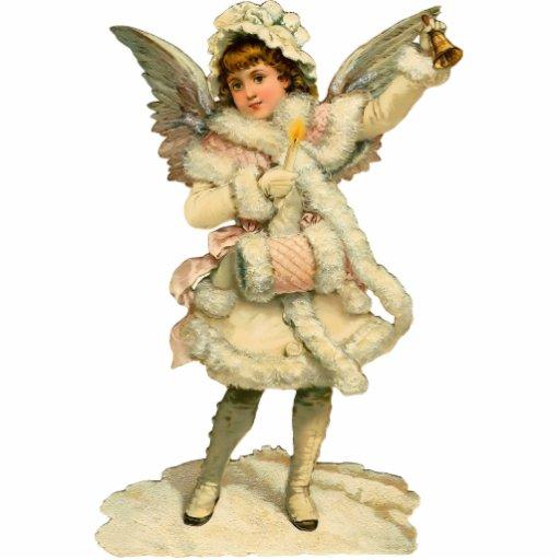 Vintage Christmas Angel Sculpture Magnet Photo Cutouts