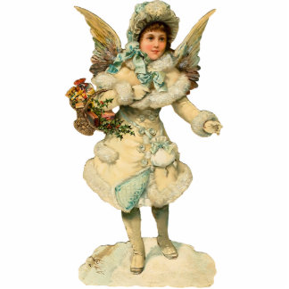 Vintage Christmas Angel Sculpture Ornament