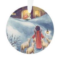 Vintage Christmas Angel Shepherd Nativity Ornament