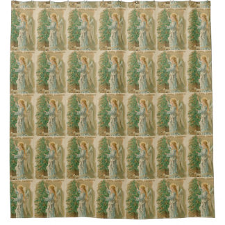 Christmas Angel Shower Curtains | Zazzle