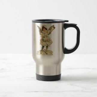 Vintage Christmas Angel Travel Mug