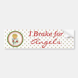 Vintage Christmas Angel Wrapping Gift Bumper Sticker