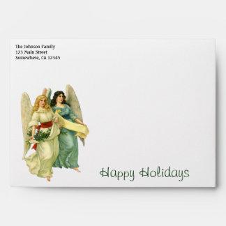 Vintage Christmas, Angelic Victorian Angels Envelope