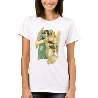 Vintage Christmas, Angelic Victorian Angels t-shirt
