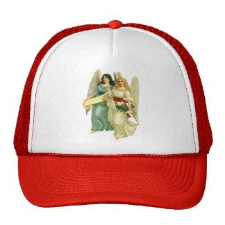 Vintage Christmas, Angelic Victorian Angels Trucker Hat