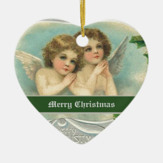 Vintage Christmas angels and holy berry ornaments