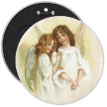 Vintage Christmas Angels Button