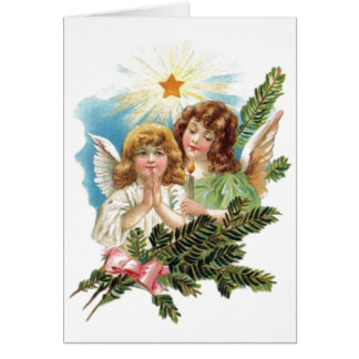 Vintage Christmas Angels Card