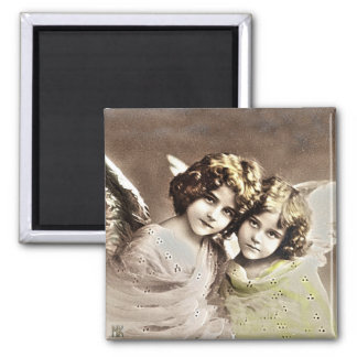 Vintage Christmas Angels Sisters! Magnet