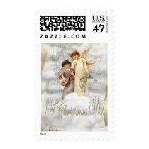 Vintage Christmas Angels Stamp