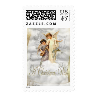 Vintage Christmas Angels Stamp