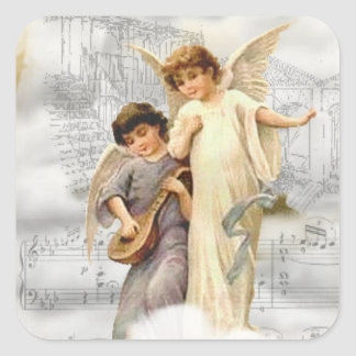 Vintage Christmas Angels Sticker