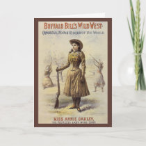Vintage Christmas, Annie Oakley Cowgirl Holiday Card