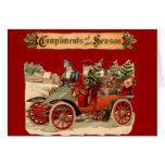 Vintage Christmas Antique Car Cards