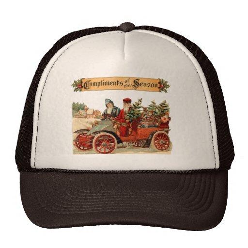 Vintage Christmas Antique Car Trucker Hats