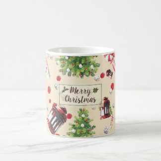 Vintage Christmas Art Pattern Coffee Mug