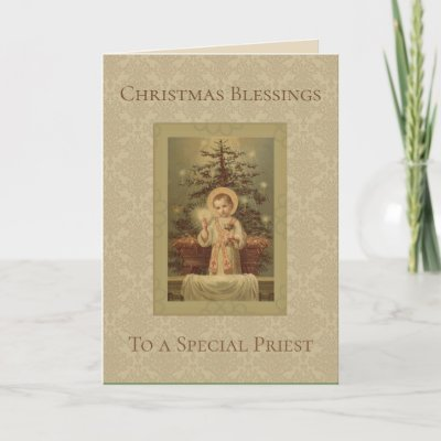 Catholic priest christmas elegant holiday card zazzle m4hsunfo