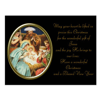 Vintage Christmas Baby Jesus Postcard