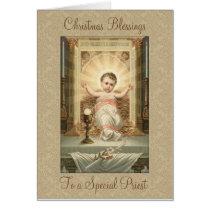 Vintage Christmas  Baby Jesus Tabernacle Priest