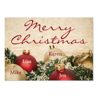 Vintage Christmas background Card