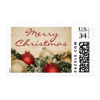Vintage Christmas background Postage Stamp