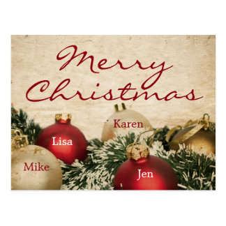 Vintage Christmas background Postcard