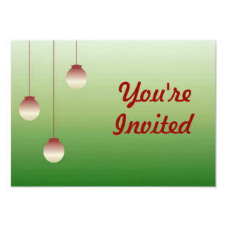 Vintage Christmas Balls Invitation