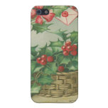 Vintage Christmas Basket with Holly iPhone SE/5/5s Case