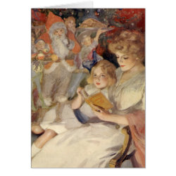 Vintage Christmas, Bedtime Stories Greeting Cards
