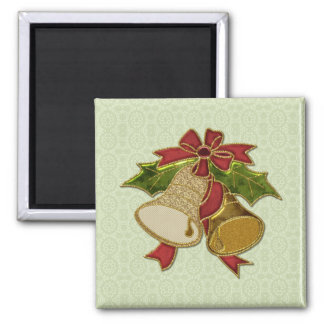 Vintage Christmas Bells - Add Your Own Text Magnet