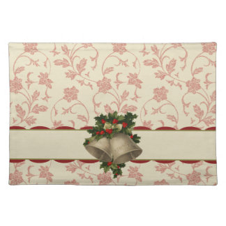 Vintage Christmas Bells and Holly Placemat