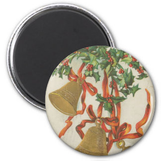 Vintage Christmas Bells and Ribbons Magnet