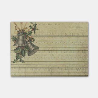 Vintage Christmas Bells & Sheet Music Note Pads
