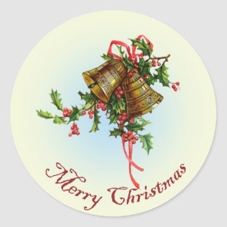 Vintage Christmas Bells Stickers