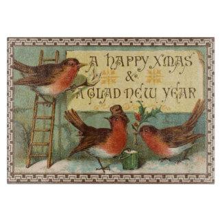 Vintage Christmas Birds Cutting Board