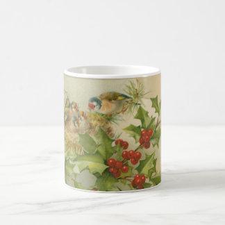 Vintage Christmas Birds Nest Coffee Mug