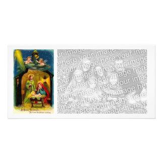 Vintage Christmas Birth of Jesus Card