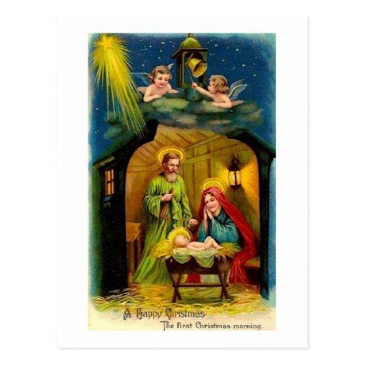 Vintage Christmas Birth of Jesus Postcard
